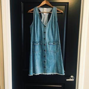 Bohme Boutique Overall Jean Dress